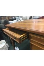 Pine 2 Drawer Desk w Turned Legs
