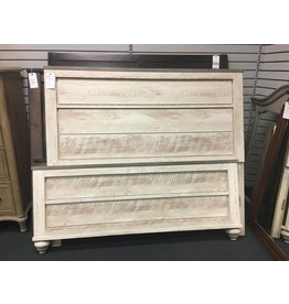 Whitewash Panel Bed - Queen