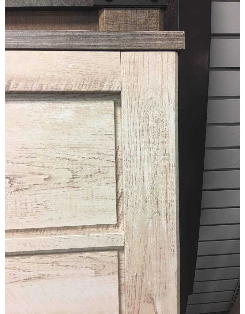 Whitewash Panel Bed - Queen