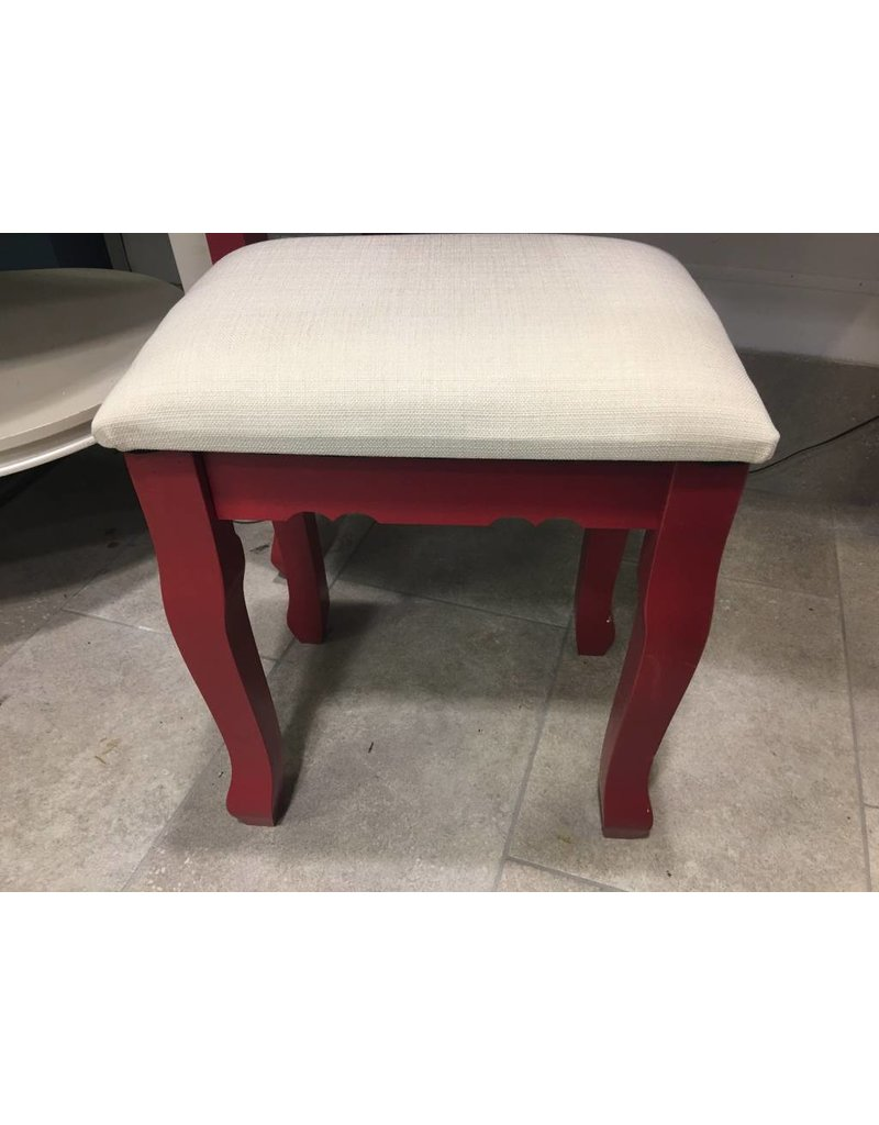 Small Red Vanity with Stool