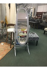 Silver Oval Freestanding Mirror
