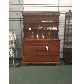 Willett Furniture Solid Maple 2pc Open Top Hutch