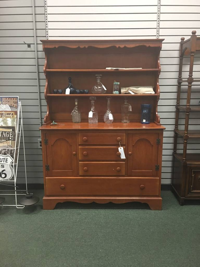 Solid Maple 2pc Open Top Hutch