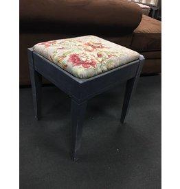 Floral Upholstered Stool