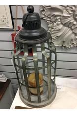 Galvanized Round Lantern