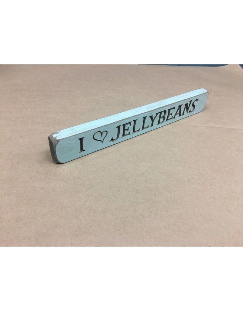 """I Heart Jellybeans Engraved Block, 12"""""""