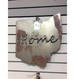 Metal Ohio w/Home Cutout