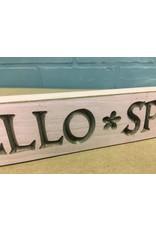 Hello Spring Engraved Block