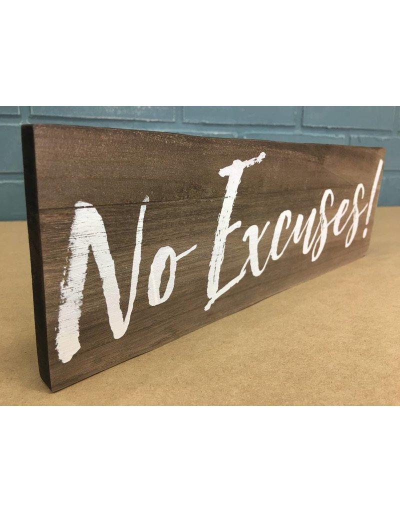 No Regrets Box Sign