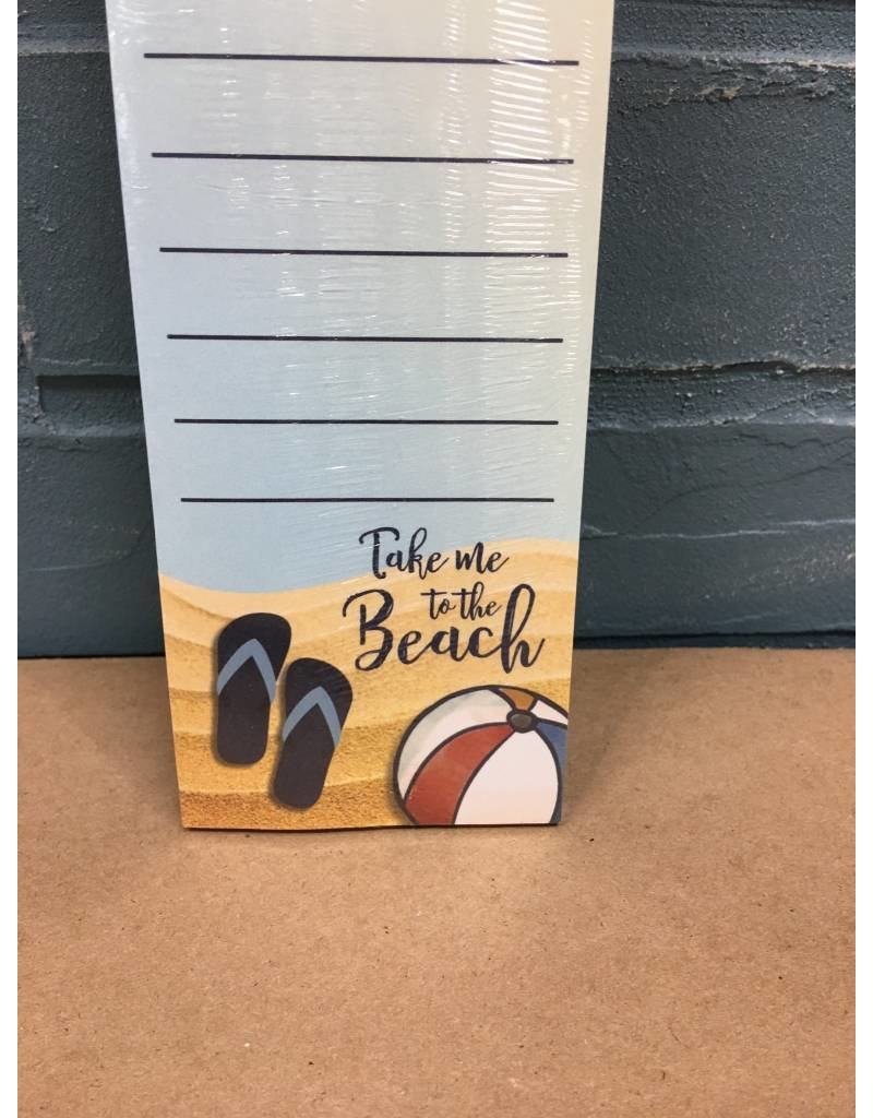 Beach Supplies Notepad