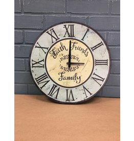 Faith, Friends, Family Clock