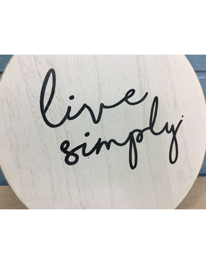 Live Simply Cutting Board Wall Décor