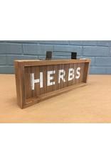 Herbs Slatted Wood Sign w/ Handle