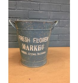 Vintage Fresh Flower Market Bucket