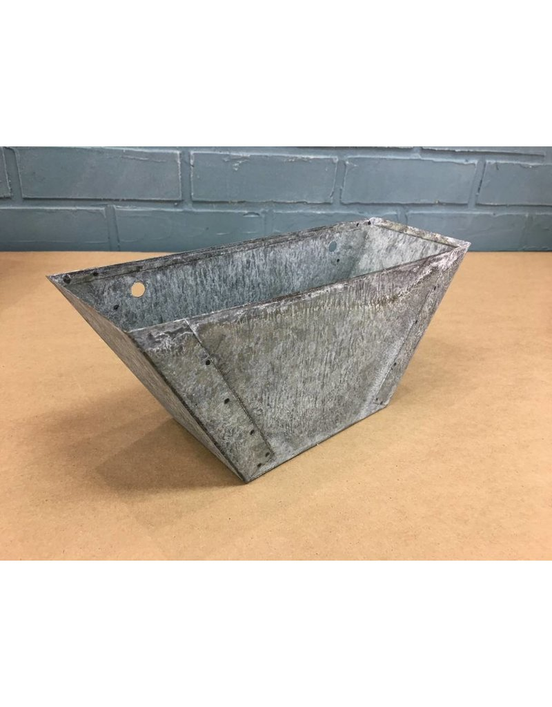 Set of 3 Galvanized Flower Boxes