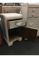 Seagull Gray Painted Waterfall Style Nightstand