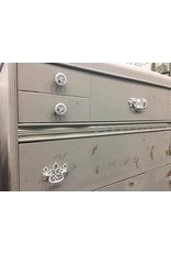 Seagull Gray Painted Waterfall Style 3 Drawer Dresser