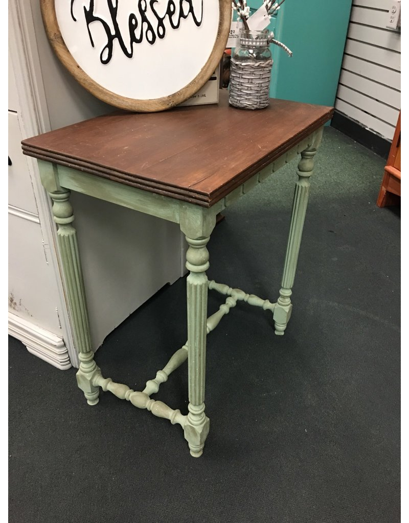 Two Tone Vintage End Table