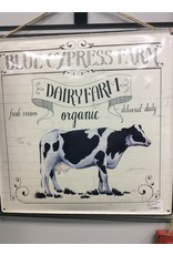 Blue Cypress Farm Enamel Plaque