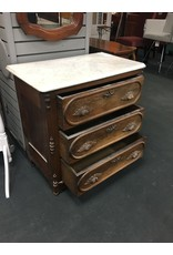 Victorian Marble Top Commode / Washstand