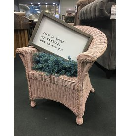 Pink Wicker Child Size Chair