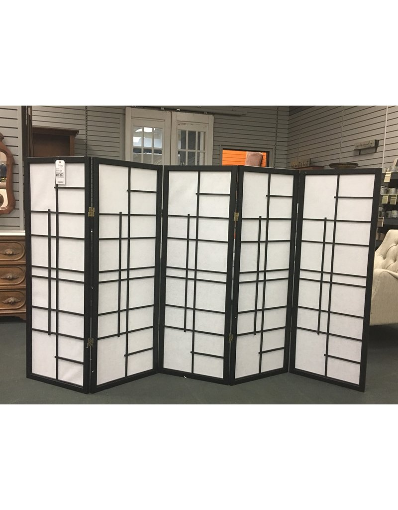 World Menagerie Clara Shoji 5 Panel Room Divider