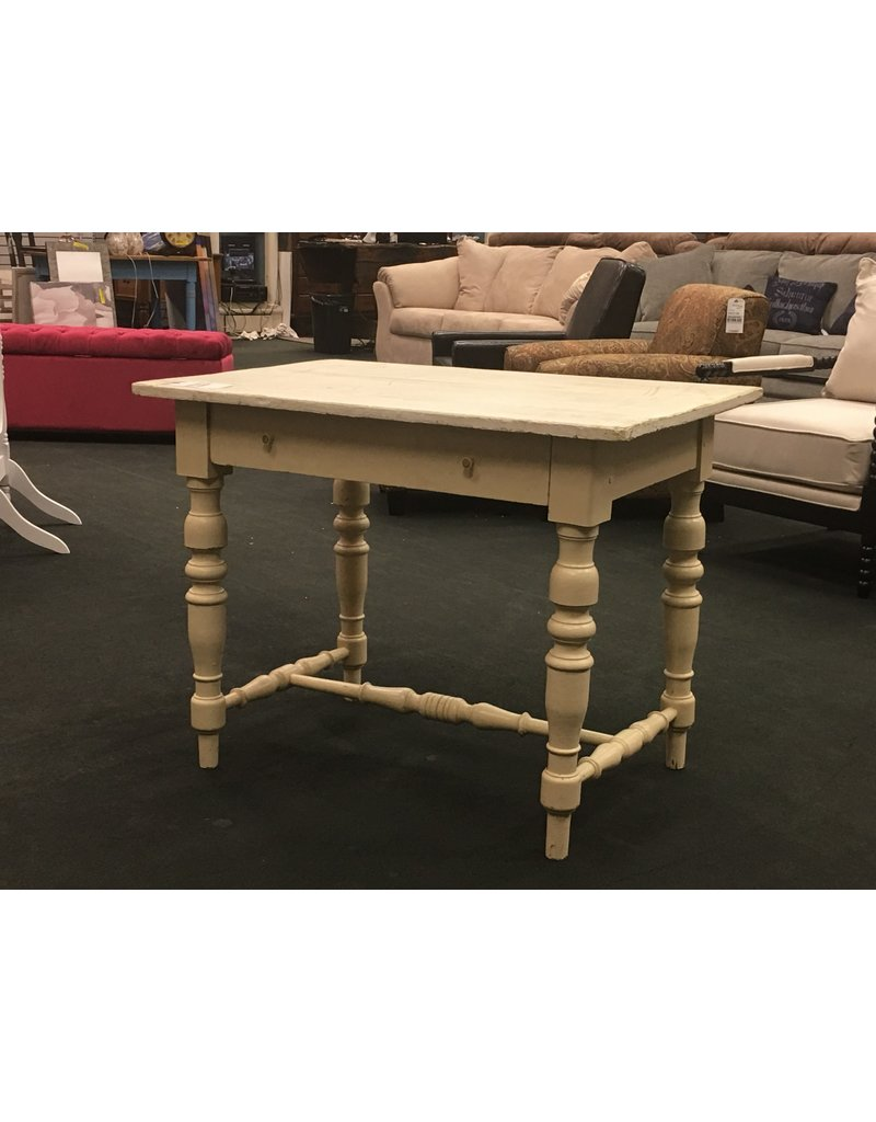 Outstanding Small Ivory Painted European Kitchen Table Caraccident5 Cool Chair Designs And Ideas Caraccident5Info