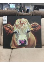 August Grove Cow Painting Print on Canvas