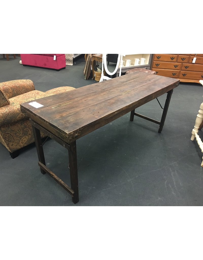 Rustic Solid Wood Folding Table