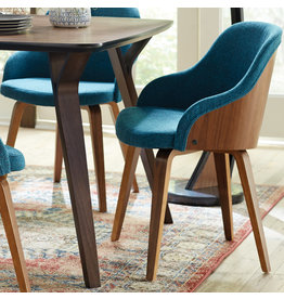 George Oliver Brighton Mid-Century Modern Upholstered Dining Chair