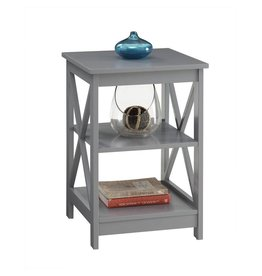 Beachcrest Home Stoneford Gray End Table