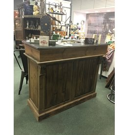 Reception Desk Bar w Wine Rack
