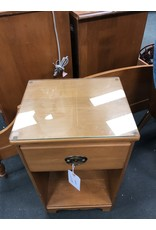 Solid Maple Single Drawer Nightstand