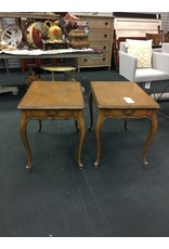 Set of 2 Vintage Solid Wood French Provincial Side Tables