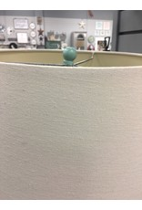 """Teal Triple Gourd Glass 29"""" Table Lamp"""
