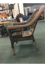 Synthetic Wicker Rolled Arm Patio Chair