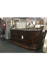 Dark Finished Credenza w Curved Edges