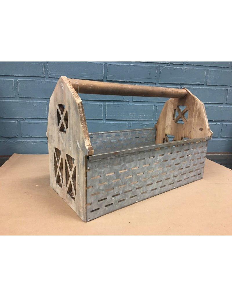 Olive Bucket Barn Wooden Basket