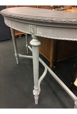 Empire Furniture Co. Neoclassical Revival Demilune Two Tone Painted Console Table