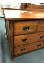 Contemporary Mission Style 8 Drawer Dresser w Mirror