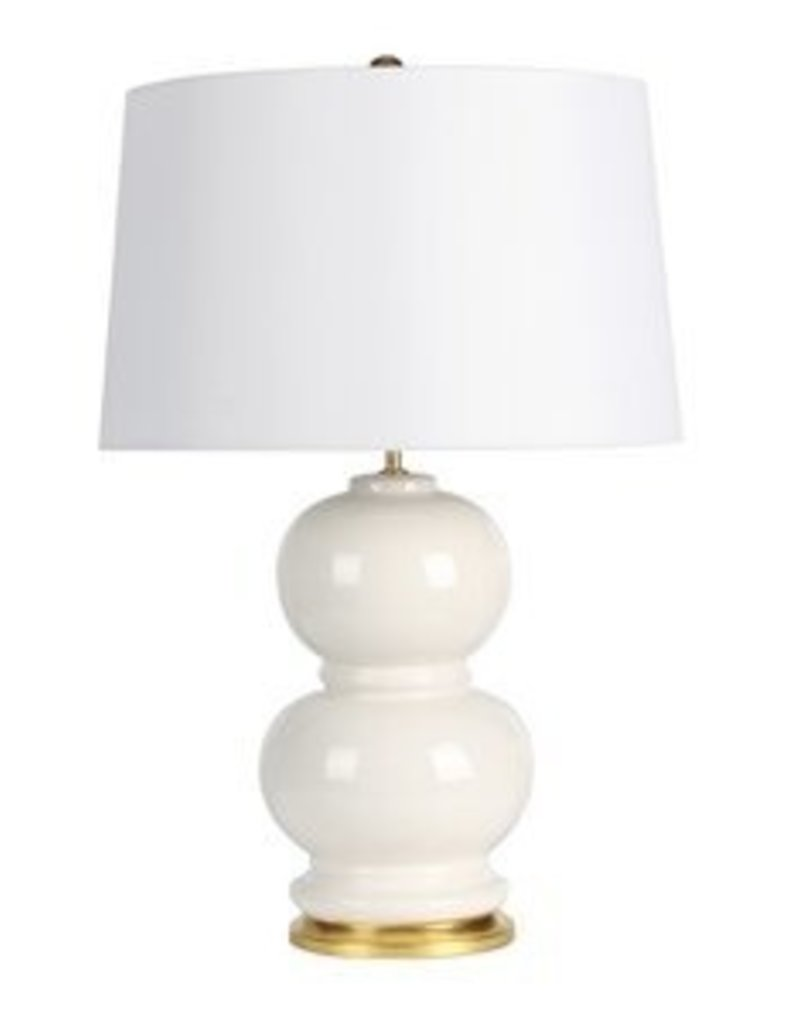 "Mercer41 Ponder Ceramic Double Gourd 28"" Table Lamp"