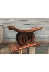 Hand Carved African Gye Nyame Ashanti Stool