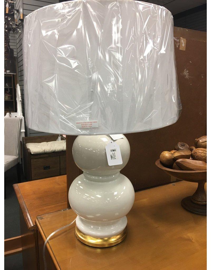 """Mercer41 Ponder Ceramic Double Gourd 28"""" Table Lamp"""