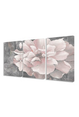 Lark Manor™ Pastel Pink Peony' 3 Piece Painting Print Set on Wrapped Canvas