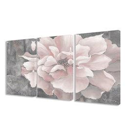 Lark Manor™ Pastel Pink Peony' 3 Piece Painting Print Set on Wrapped Canvas