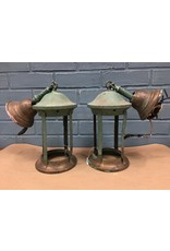 Pair of Vintage Decorative Lantern Style Pendants