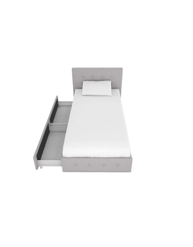 Winston Porter Houchins Upholstered Storage Platform Bed - Twin