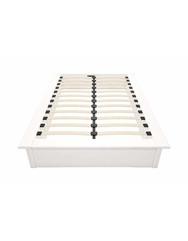 DHP Maven White Faux Leather Upholstered Platform Bed - Queen