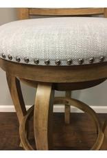 One Allium Way® Prevost Wooden Swivel Bar Stool