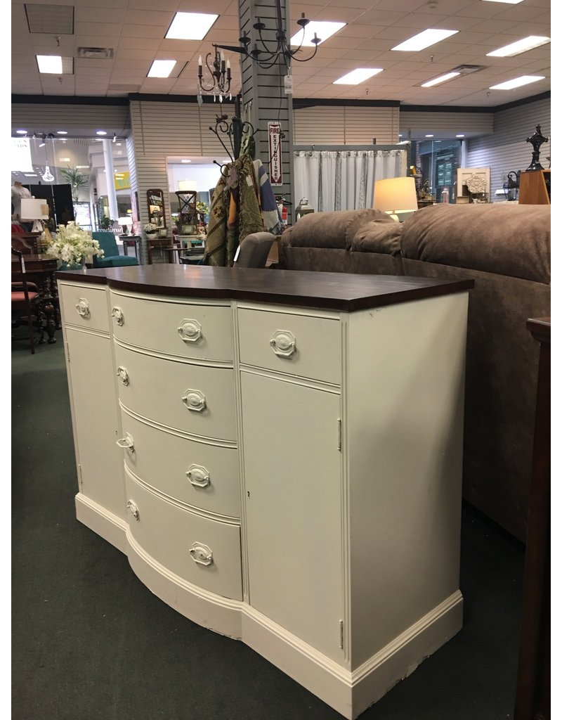 White Federal Style Bow Front Buffet
